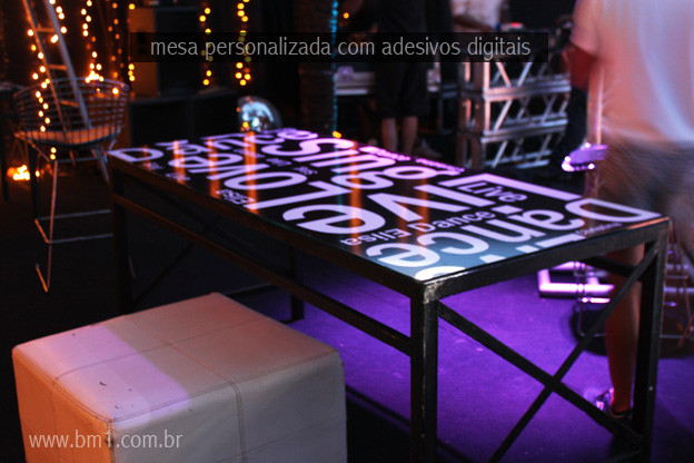 Artesanato Simples Com Eva ~ mesa com adesivos digital mesa personalizada para festa